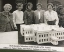 Raheny Heritage Society Members with Model of Saint Anne's